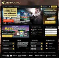 Cherry Casino webbsida