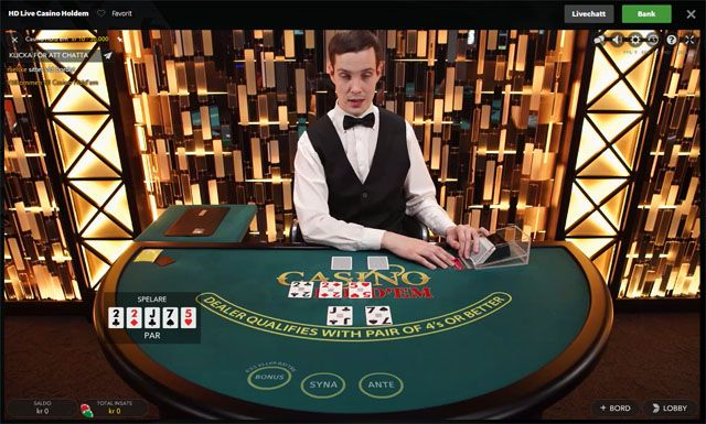 Casino hold'em live dealer